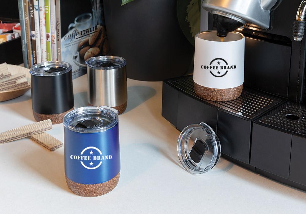 Custom branded thermal coffee mug